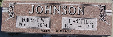 JOHNSON, FORREST W. - Saunders County, Nebraska | FORREST W. JOHNSON - Nebraska Gravestone Photos