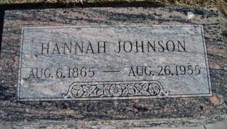 JOHNSON, HANNAH - Saunders County, Nebraska | HANNAH JOHNSON - Nebraska Gravestone Photos