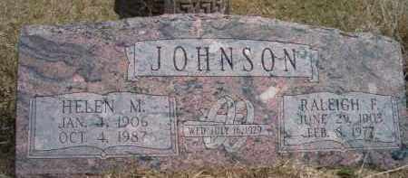 JOHNSON, RALEIGH F - Saunders County, Nebraska | RALEIGH F JOHNSON - Nebraska Gravestone Photos