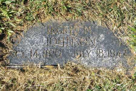 JOHNSON, INGRID M - Saunders County, Nebraska | INGRID M JOHNSON - Nebraska Gravestone Photos