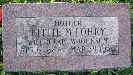 LOHRY JOHNSON, KITTIE M. - Saunders County, Nebraska | KITTIE M. LOHRY JOHNSON - Nebraska Gravestone Photos