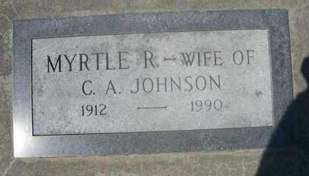 JOHNSON, MYRTLE R. - Saunders County, Nebraska | MYRTLE R. JOHNSON - Nebraska Gravestone Photos