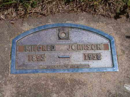 JOHNSON, MILDRED - Saunders County, Nebraska   MILDRED JOHNSON - Nebraska Gravestone Photos