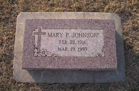 JOHNSON, MARY P. - Saunders County, Nebraska   MARY P. JOHNSON - Nebraska Gravestone Photos