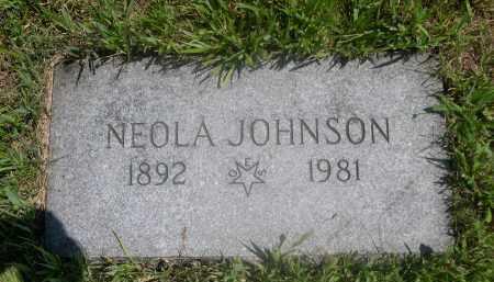 JOHNSON, NEOLA - Saunders County, Nebraska   NEOLA JOHNSON - Nebraska Gravestone Photos