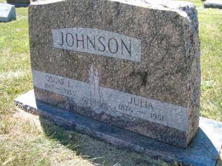JOHNSON, OSCAR L - Saunders County, Nebraska | OSCAR L JOHNSON - Nebraska Gravestone Photos
