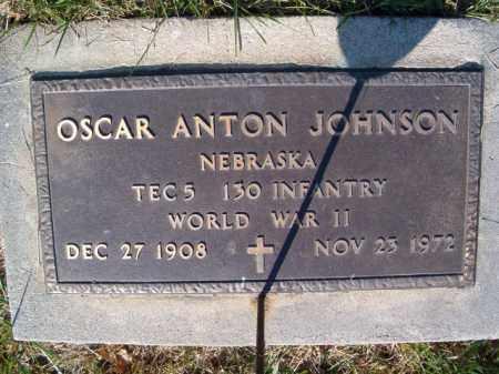 JOHNSON, OSCAR ANTON(MILITARY MARKER) - Saunders County, Nebraska | OSCAR ANTON(MILITARY MARKER) JOHNSON - Nebraska Gravestone Photos