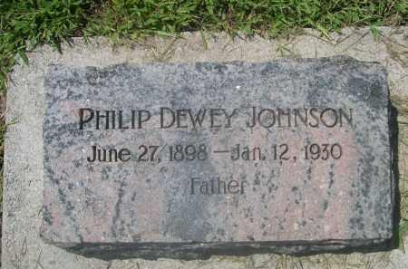 JOHNSON, PHILIP DEWEY - Saunders County, Nebraska | PHILIP DEWEY JOHNSON - Nebraska Gravestone Photos