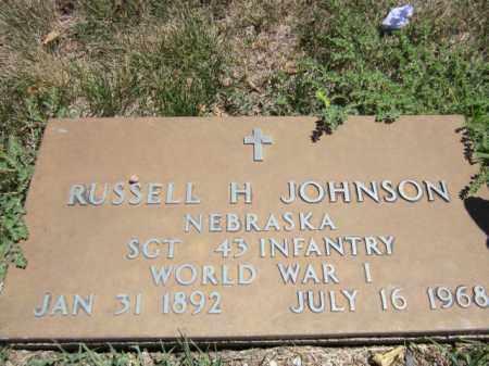 JOHNSON, RUSSELL H. (MILITARY MARKER) - Saunders County, Nebraska | RUSSELL H. (MILITARY MARKER) JOHNSON - Nebraska Gravestone Photos