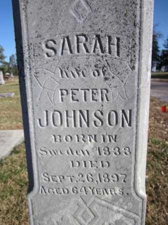 JOHNSON, SARAH (CLOSE UP) - Saunders County, Nebraska | SARAH (CLOSE UP) JOHNSON - Nebraska Gravestone Photos