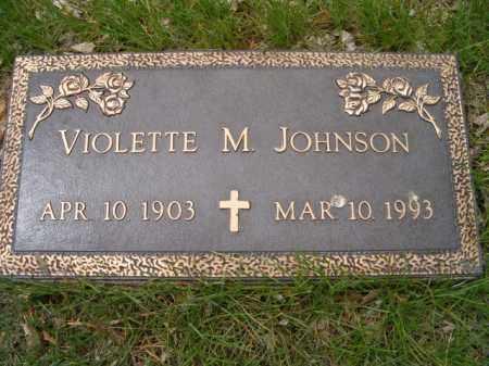 JOHNSON, VIOLETTE M. - Saunders County, Nebraska   VIOLETTE M. JOHNSON - Nebraska Gravestone Photos