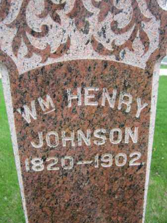 JOHNSON, WM HENRY (CLOSE UP) - Saunders County, Nebraska | WM HENRY (CLOSE UP) JOHNSON - Nebraska Gravestone Photos