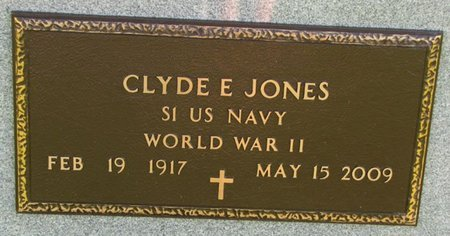 JONES, CLYDE E. (MILITARY) - Saunders County, Nebraska | CLYDE E. (MILITARY) JONES - Nebraska Gravestone Photos