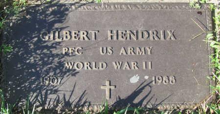 HENDRIX, GILBERT (MILITARY) - Saunders County, Nebraska   GILBERT (MILITARY) HENDRIX - Nebraska Gravestone Photos
