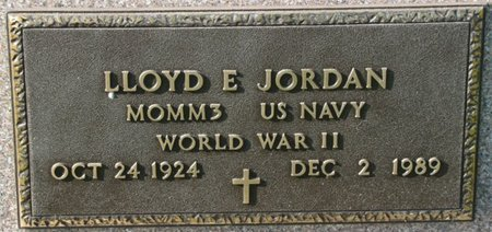 JORDAN, LLOYD E. (MILITARY) - Saunders County, Nebraska | LLOYD E. (MILITARY) JORDAN - Nebraska Gravestone Photos