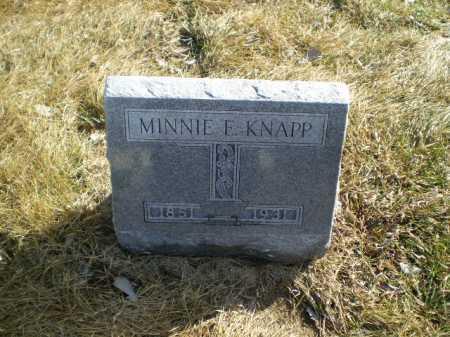 KNAPP, MINNIE E - Saunders County, Nebraska   MINNIE E KNAPP - Nebraska Gravestone Photos