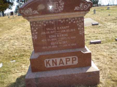 KNAPP EWING, EDNA B - Saunders County, Nebraska | EDNA B KNAPP EWING - Nebraska Gravestone Photos
