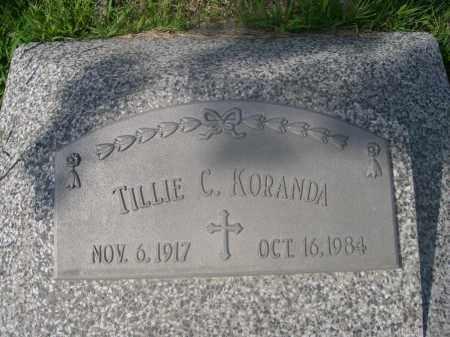 KORANDA, TILLIE C. - Saunders County, Nebraska   TILLIE C. KORANDA - Nebraska Gravestone Photos