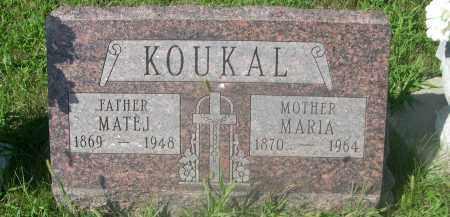 KOUKAL, MARIA - Saunders County, Nebraska | MARIA KOUKAL - Nebraska Gravestone Photos