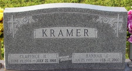 KRAMER, HANNAH J. - Saunders County, Nebraska | HANNAH J. KRAMER - Nebraska Gravestone Photos