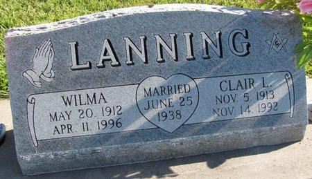 LANNING, CLAIR L. - Saunders County, Nebraska   CLAIR L. LANNING - Nebraska Gravestone Photos