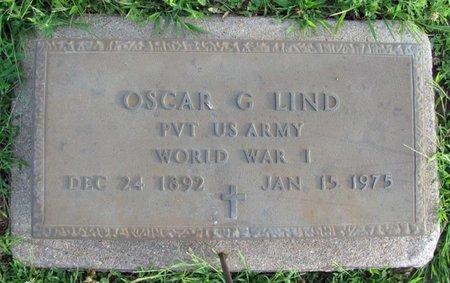 LIND, OSCAR G. (MILITARY) - Saunders County, Nebraska   OSCAR G. (MILITARY) LIND - Nebraska Gravestone Photos