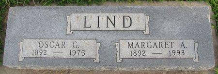 LIND, OSCAR G. - Saunders County, Nebraska   OSCAR G. LIND - Nebraska Gravestone Photos