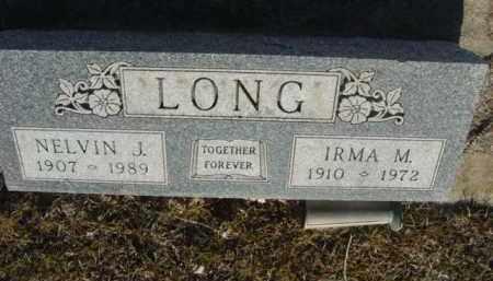 LONG, NELVIN JAMES - Saunders County, Nebraska | NELVIN JAMES LONG - Nebraska Gravestone Photos