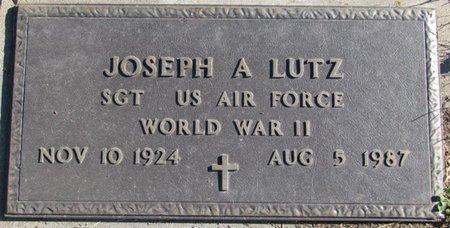 LUTZ, JOSEPH A. (MILITARY) - Saunders County, Nebraska   JOSEPH A. (MILITARY) LUTZ - Nebraska Gravestone Photos