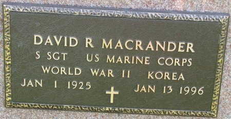 MACRANDER, DAVID R. (MILITARY) - Saunders County, Nebraska   DAVID R. (MILITARY) MACRANDER - Nebraska Gravestone Photos