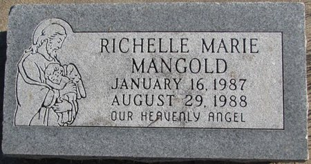MANGOLD, RICHELLE MARIE - Saunders County, Nebraska | RICHELLE MARIE MANGOLD - Nebraska Gravestone Photos