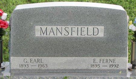 MANSFIELD, G. EARL - Saunders County, Nebraska | G. EARL MANSFIELD - Nebraska Gravestone Photos