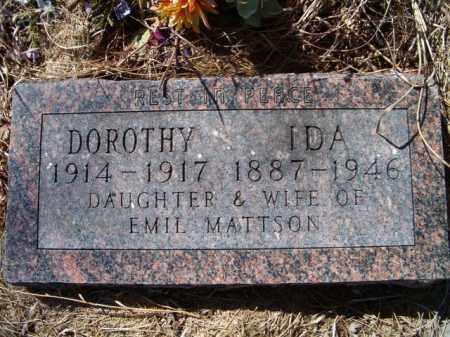 MATTSON, IDA - Saunders County, Nebraska | IDA MATTSON - Nebraska Gravestone Photos