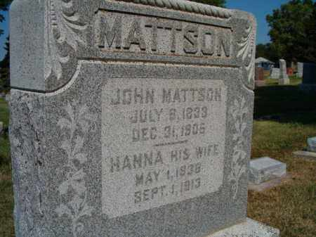 MATTSON, HANNA - Saunders County, Nebraska | HANNA MATTSON - Nebraska Gravestone Photos