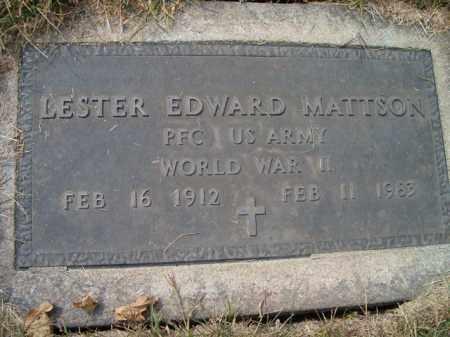 MATTSON, LESTER EDWARD (MILITARY MARKER) - Saunders County, Nebraska | LESTER EDWARD (MILITARY MARKER) MATTSON - Nebraska Gravestone Photos