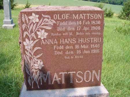 MATTSON, OLOF - Saunders County, Nebraska | OLOF MATTSON - Nebraska Gravestone Photos