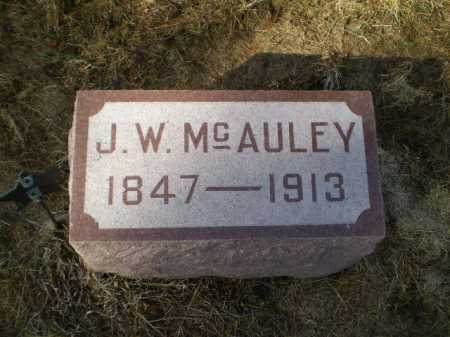 MCAULEY, JOHN W - Saunders County, Nebraska   JOHN W MCAULEY - Nebraska Gravestone Photos
