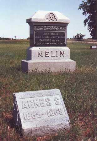 MELIN, JOHN - Saunders County, Nebraska | JOHN MELIN - Nebraska Gravestone Photos
