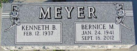 MEYER, KENNETH B. - Saunders County, Nebraska   KENNETH B. MEYER - Nebraska Gravestone Photos