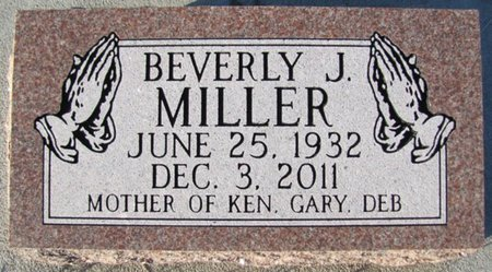 TEEBKEN MILLER, BEVERLY J. - Saunders County, Nebraska | BEVERLY J. TEEBKEN MILLER - Nebraska Gravestone Photos