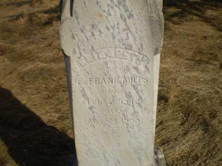 MILLS, ELIZABETH - Saunders County, Nebraska | ELIZABETH MILLS - Nebraska Gravestone Photos