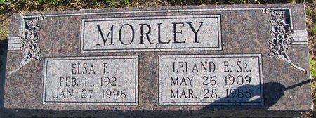 MORLEY, ELSA F. - Saunders County, Nebraska | ELSA F. MORLEY - Nebraska Gravestone Photos