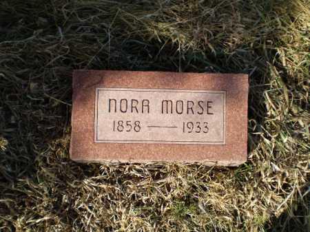 MORSE, NORA - Saunders County, Nebraska | NORA MORSE - Nebraska Gravestone Photos
