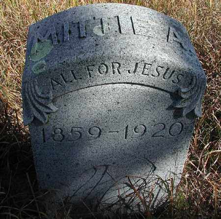 NASH, MITTIE A. - Saunders County, Nebraska   MITTIE A. NASH - Nebraska Gravestone Photos