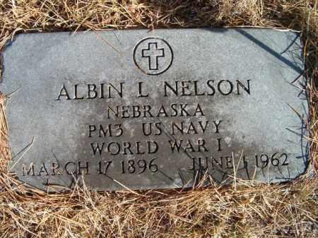 NELSON, ALBIN L (MILITARY MARKER) - Saunders County, Nebraska   ALBIN L (MILITARY MARKER) NELSON - Nebraska Gravestone Photos