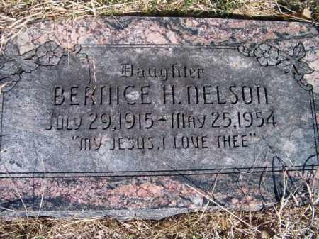 NELSON, BERNICE H - Saunders County, Nebraska | BERNICE H NELSON - Nebraska Gravestone Photos