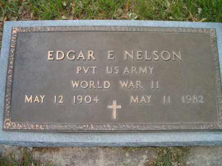 NELSON, EDGAR E. (MILITARY MARKER) - Saunders County, Nebraska | EDGAR E. (MILITARY MARKER) NELSON - Nebraska Gravestone Photos