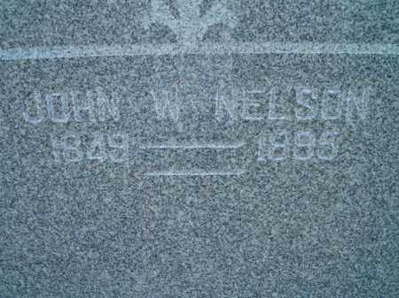 NELSON, JOHN W - Saunders County, Nebraska   JOHN W NELSON - Nebraska Gravestone Photos