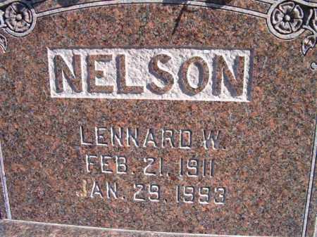 NELSON, LENNARD W - Saunders County, Nebraska   LENNARD W NELSON - Nebraska Gravestone Photos