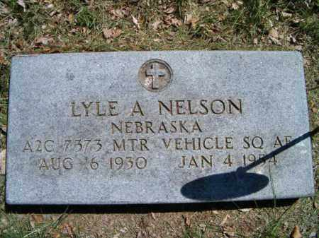 NELSON, LYLE A. (MILITARY MARKER) - Saunders County, Nebraska | LYLE A. (MILITARY MARKER) NELSON - Nebraska Gravestone Photos
